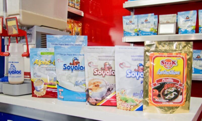 La empresa ofrece nueve productos, cinco elaborados a base de soya. (Foto: Cortesía Rapifrut)