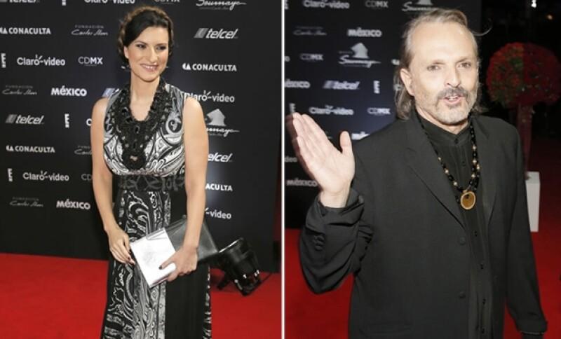 Laura Pausini y Miguel Bosé estuvieron presentes en la celebración.