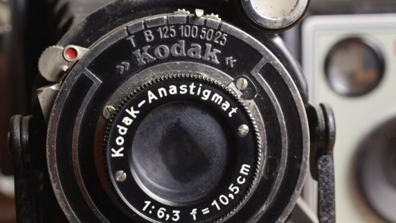 Una vieja camara fotografica kodak