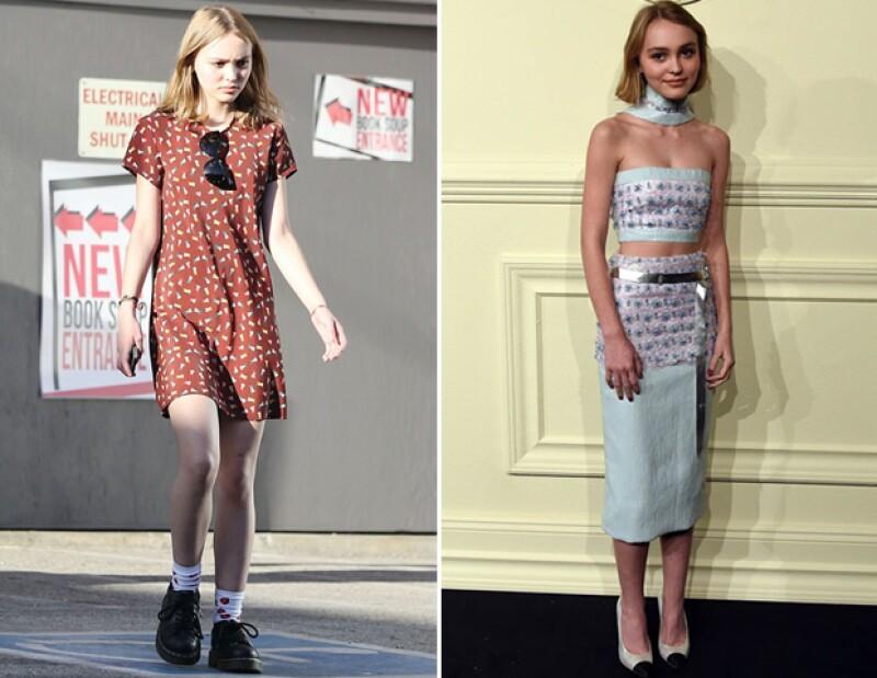 Lily-Rose Depp ya tiene contrato con Chanel con apenas 16 años.