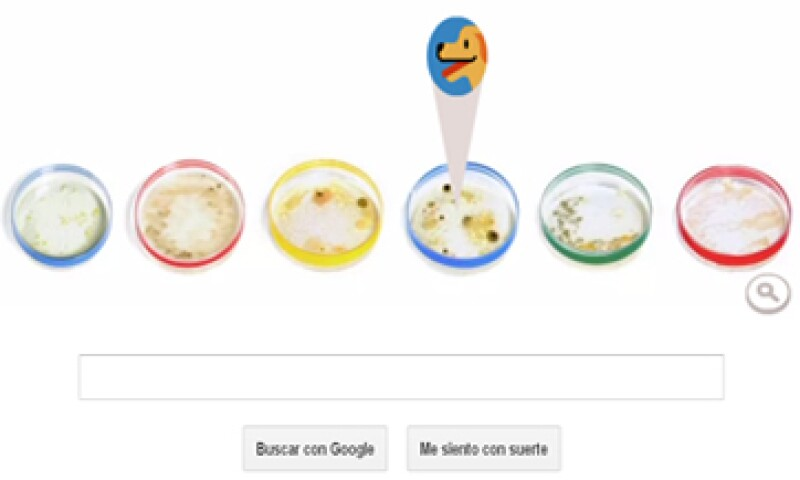 El doodle de este viernes muestra varias cajas de petri con diferentes tipos de bacterias.   (Foto: tomada de google.com)
