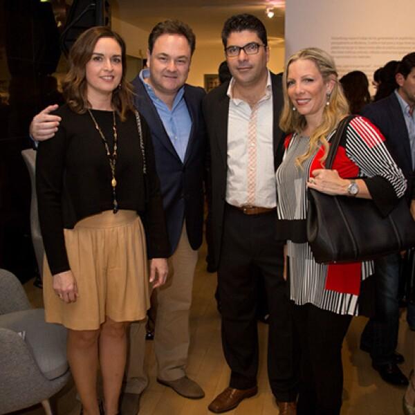 Verónica Martínez de González,José Antonio González,Eduardo Molina y Eloisa Villarreal de Molina