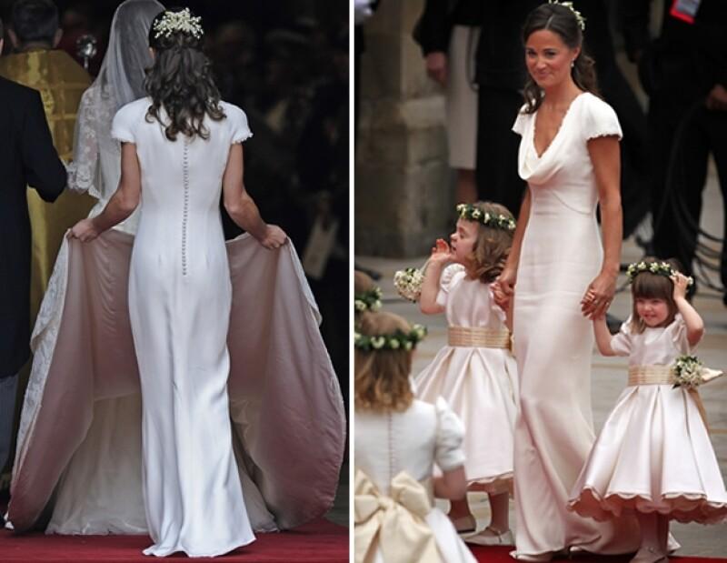 A pesar que diferentes publicaciones suelen alabar a Pippa Middleton, el káiser de la moda manifestó que lo único que vale la pena de la hermana de la Duquesa de Cambridge es su espalda.