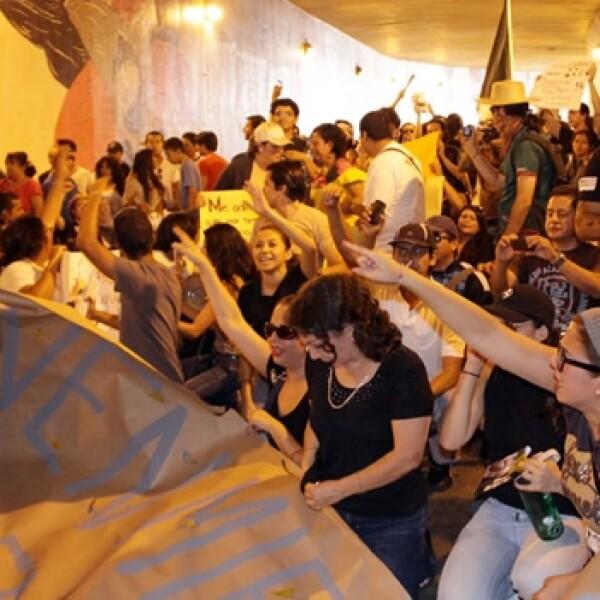 marcha antipeña en xalapa, veracruz