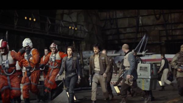 La primera aparición de Felicity Jones y Diego Luna en la nueva película de Star Wars.