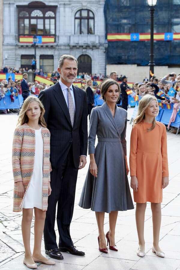 Spanish Royals Arrive At Oviedo Ahead Of 'Princesa de Asturias' Awards 2019