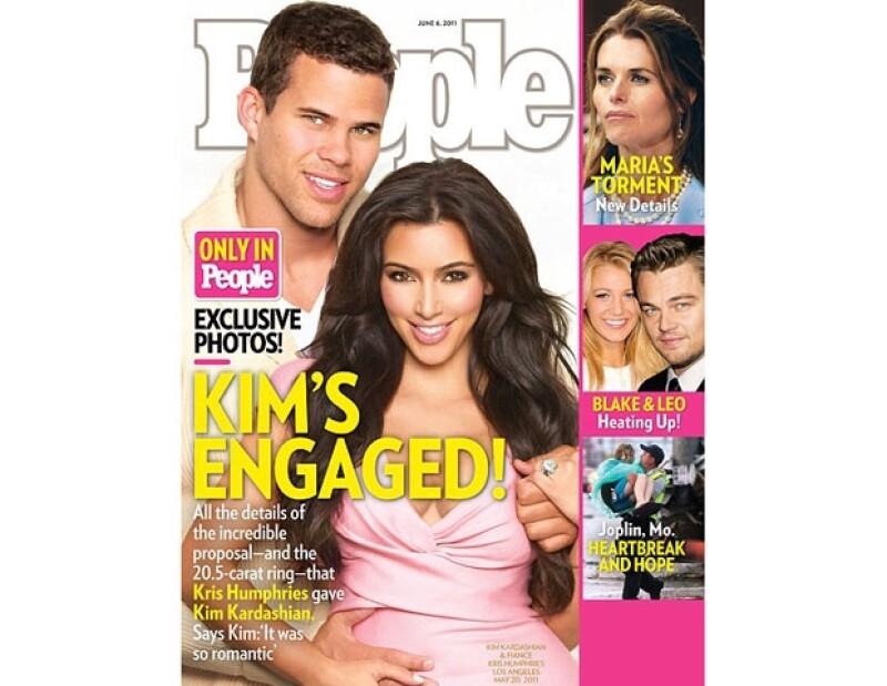 Kim contó y compartió las fotos de ese bello momento con al revista People.