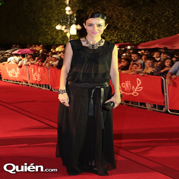 Cecilia Suárez en la red carpet
