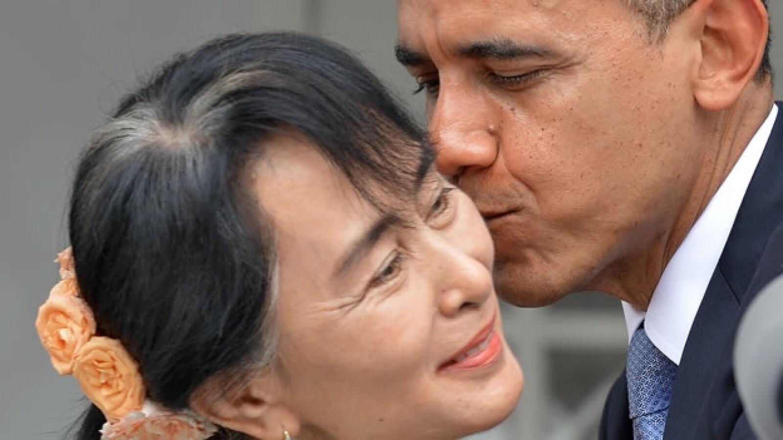 Barack Obama visita a Aun San Suu Kyi