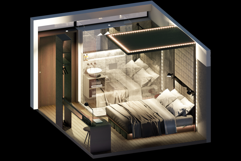 Concepto de hoteles de Ycrib