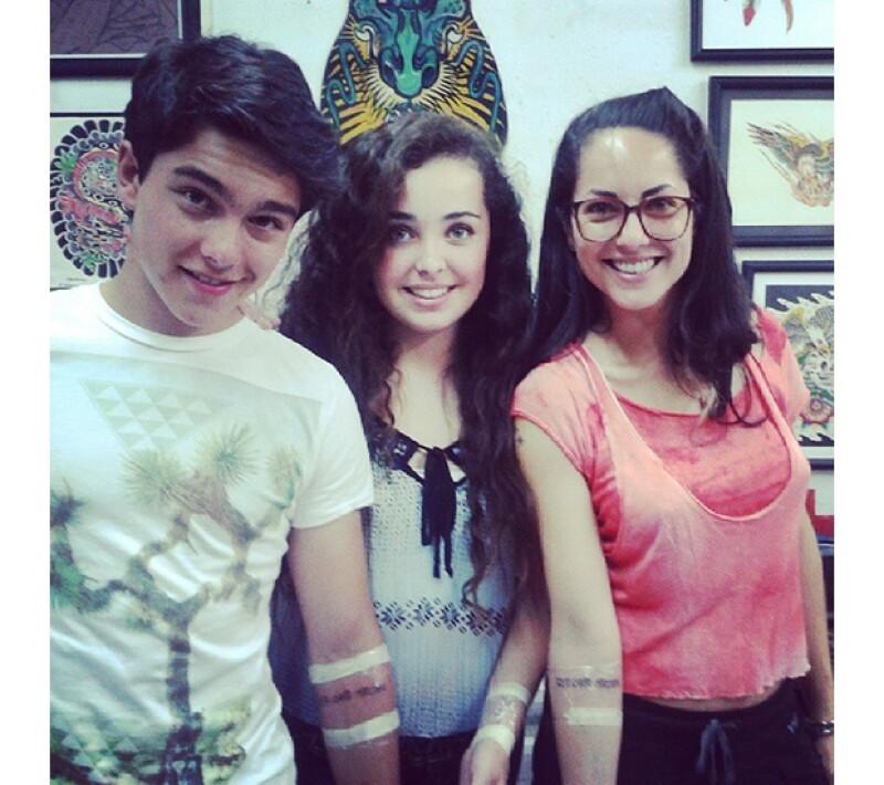 Sergio, Andi y Bárbara se hicieron tatuajes, aunque no sabemos si son definitivos, ellos parecen llevarse súper.