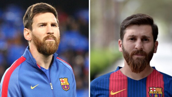 Lionel Messi y su gemelo