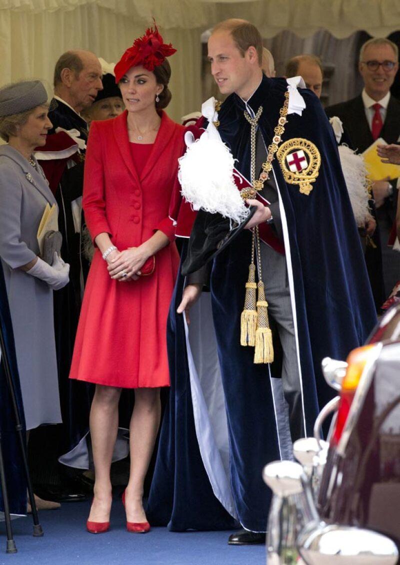 Kate y William asistieron a la ceremonia anual de Order of the Garter en el castillo de Windsor.