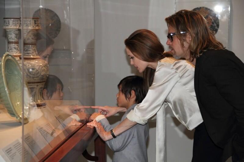 Angelina durante el evento en Los Ángeles estuvo con su hijo Pax.