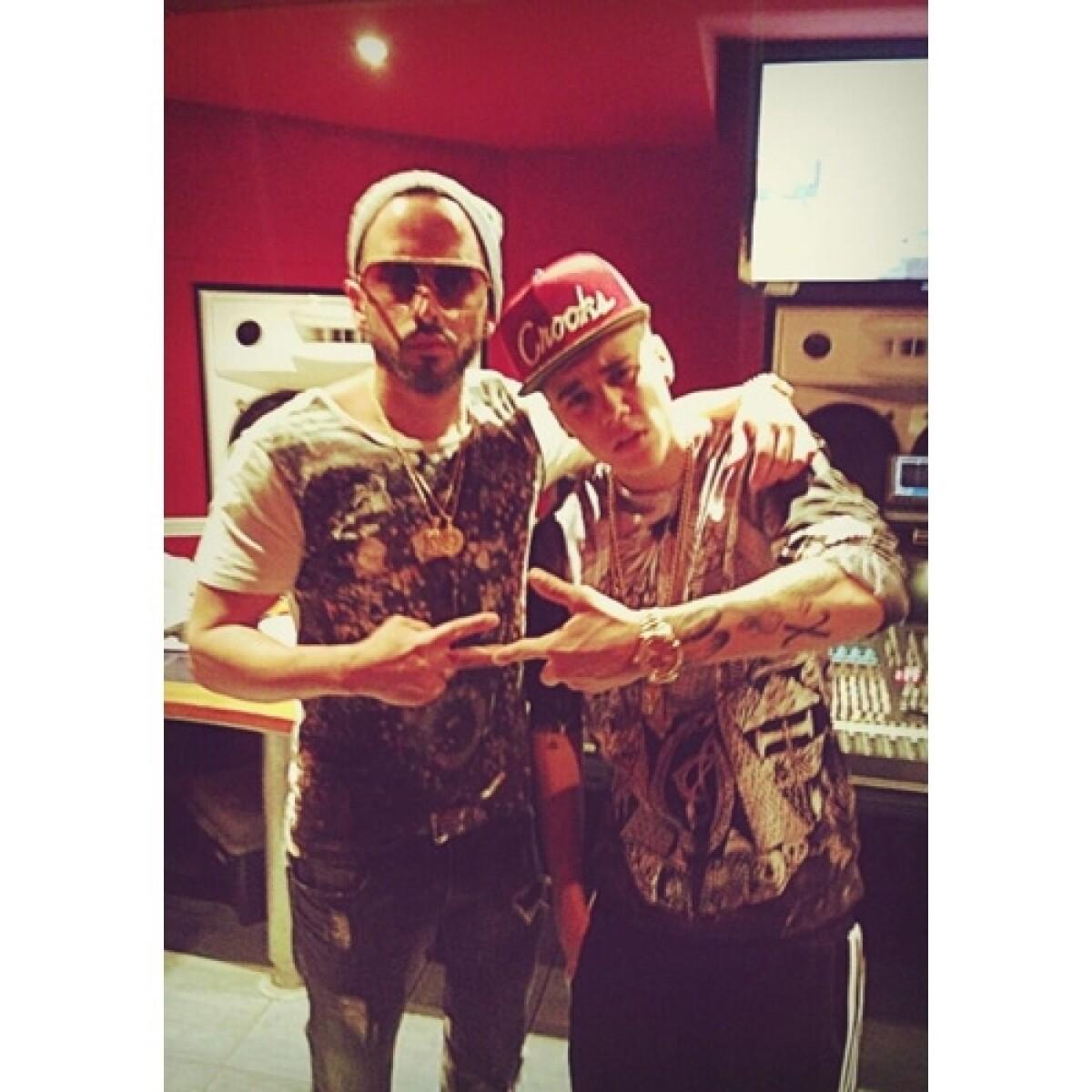 Yandel y Justin Bieber, juntos en el estudio, ¿Por...?