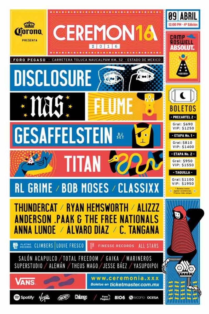 Finalmente el cartel para la cuarta edición del festival ha sido revelado, siendo bandas como Disclosure, Nas y Flume las que estarán presentes el próximo 9 de abril.