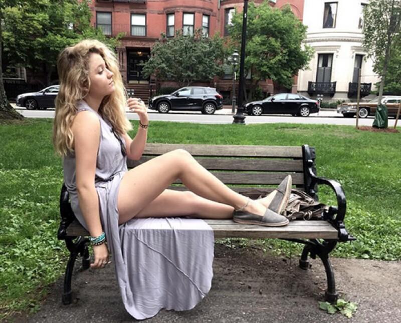 Fernanda Castro ha compartido varias fotos durante su estancia en Boston en las que se puede ver lo difrente que luce su nariz.