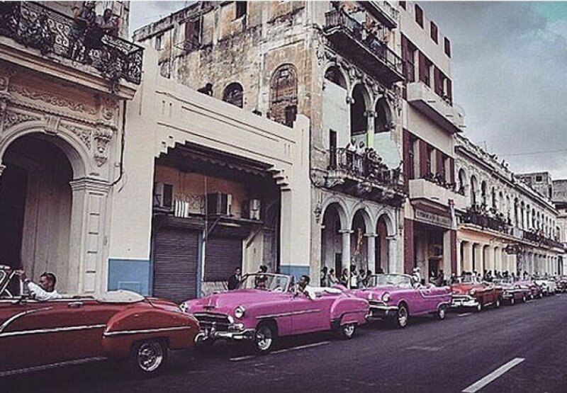 Cuba fue su segunda parada después de haber estado unos días filmando en Miami.