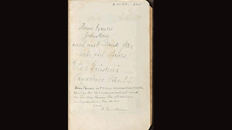 Biblia firmada por Einstein