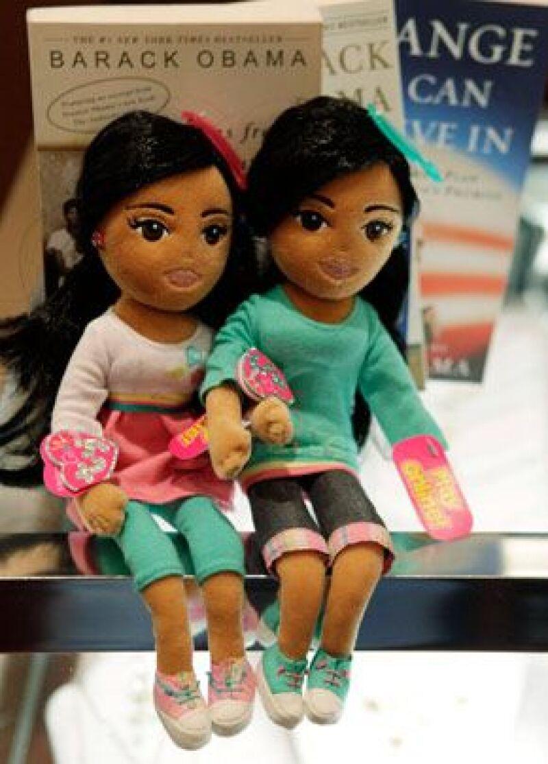 Los nombres de las hijas del presidente de EU sirvieron de inspiración para crear Sweet Sasha y Marvelous Malia, de la línea TyGirlz Collection.