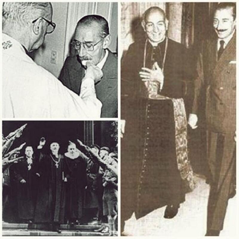 Estas imágenes del religioso con Jorge Rafael Videla han causado polémica en redes sociales.