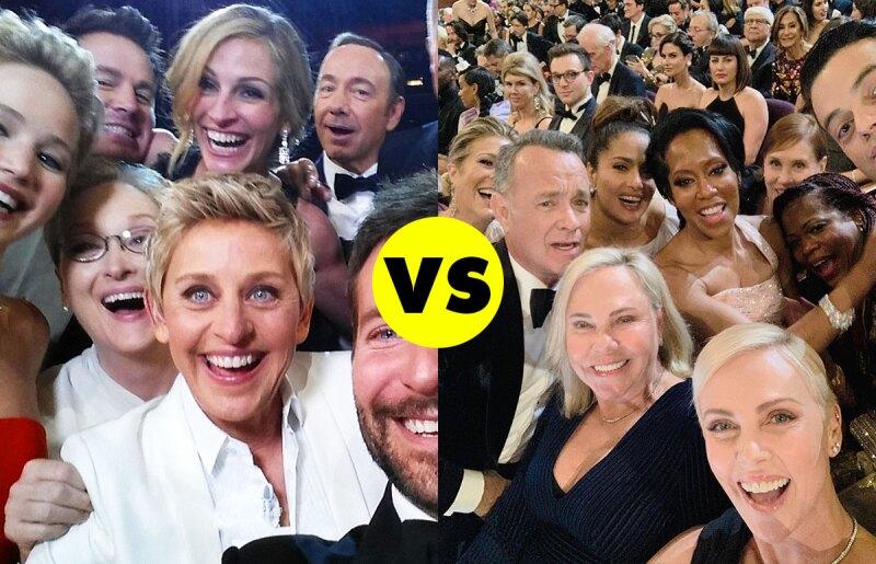 selfie-oscars-record-más-vista-ellen-bradley-cooper-meryl-charlize-theron