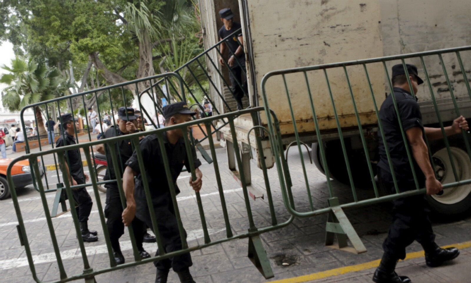 Las fuerzas de seguridad de Mérida prepararon la ciudad para el recibimiento de Castro.