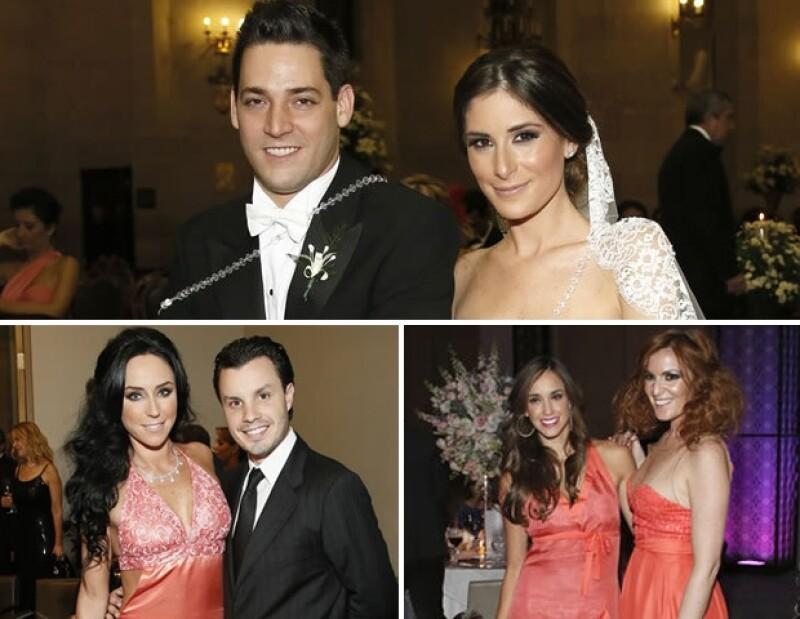 Inés Gómez Mont y Javier Díaz, Oli Peralta y Angie Taddei fueron algunos de los invitados a la boda de Manolo Núñez y Melissa López.