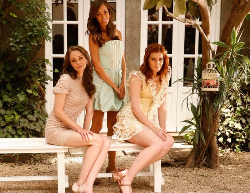 Angie Taddei, Laisha Wilkins y Olivia Peralta portaron para el shooting piezas de la diseñadora Alexia Ulibarri.