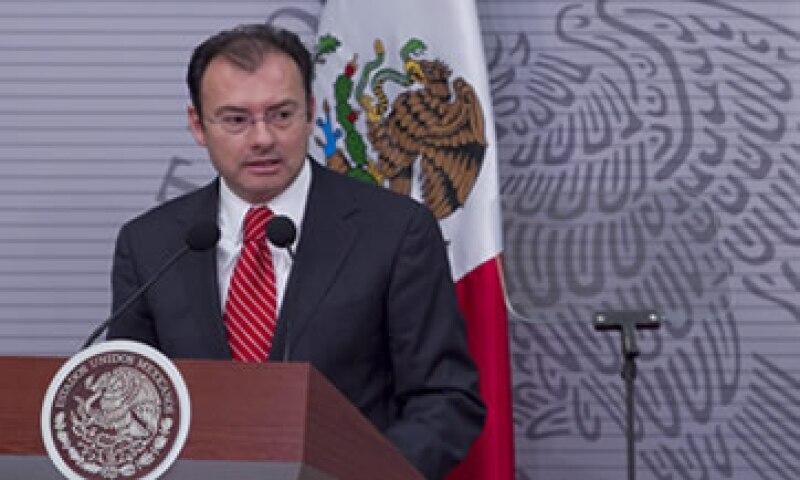Luis Videgaray destacó que el gasto público se está ejerciendo conforme su calendarización original. (Foto: Notimex)