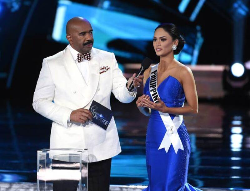 La ganadora de Miss Universo reconoció la actitud de Steve después de su gran equivocación.