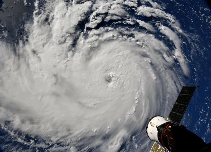 Una imagen del fenómeno meteorológico visto desde el espacio.